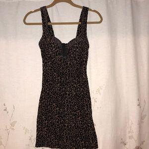 NWT Leopard mini dress
